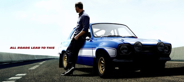 Fast  Furious 6 Character Poster For Paul Walker and his car on the road