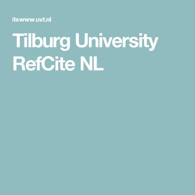Tilburg University RefCite NL