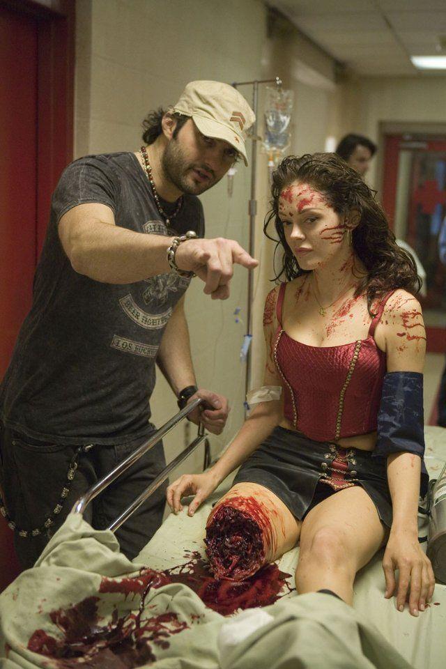 Robert Rodriguez and Rose McGowan - Planet Terror