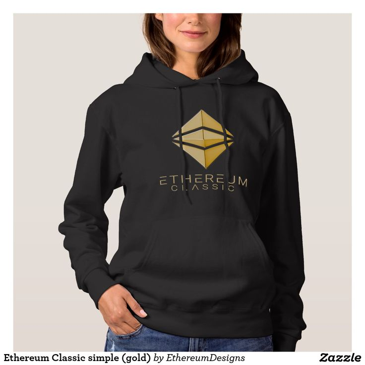 Ethereum Classic simple (gold) Women's Hoodie designed by András Balogh