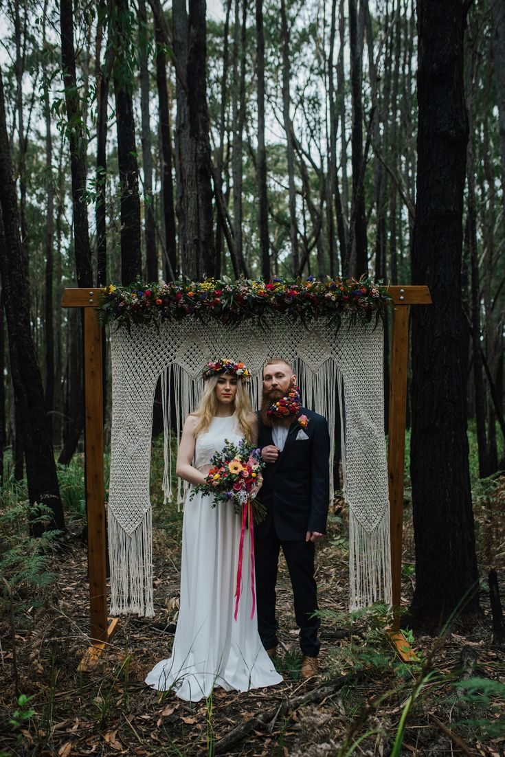 Colourful & Floral-Filled Forest Wedding Inspiration - Polka Dot Bride