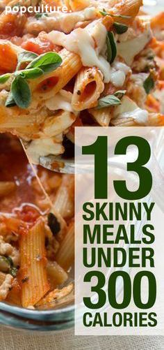 13 skinny dinners under 300 calories! All delicious, all healthy and all with Weight Watcher Points! Popculture.com #recipes #dinners #lowcalorie #weightwatcherspoints #healthyliving #weightloss #dieting