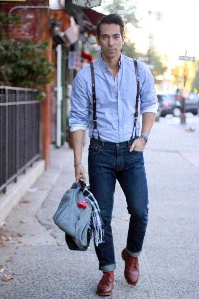 jeans and braces style men streetstyle