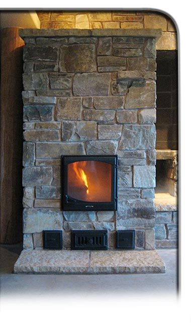 Masonry heater--the most efficient wood stoves ever! I want one.