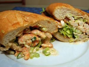 You know you want this shrimp salad sandwich