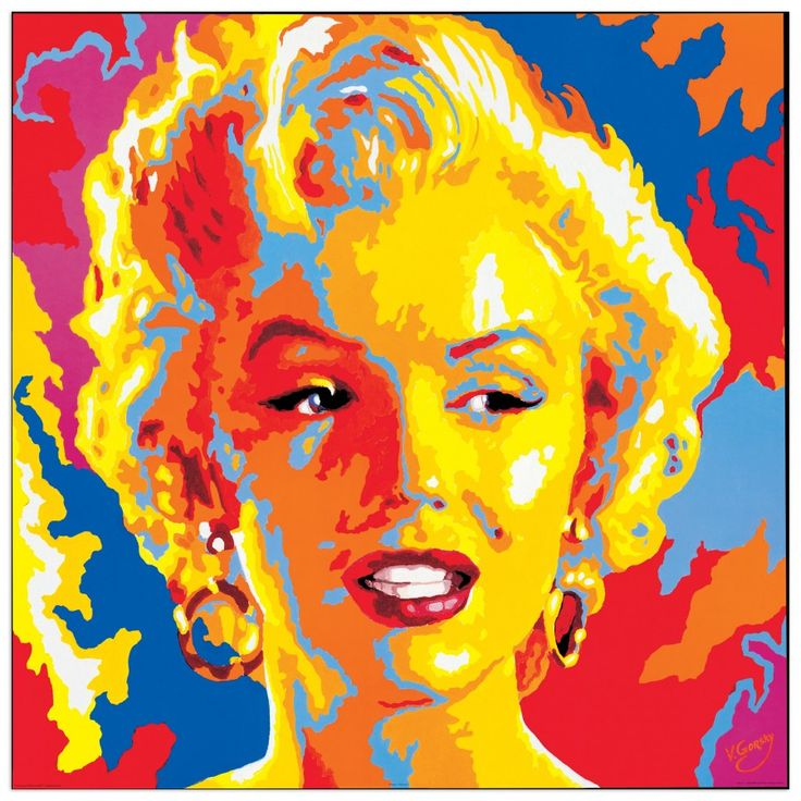 GORSKY - Marilyn Monroe 85x85 cm #artprints #interior #design #art #print #cinema  Scopri Descrizione e Prezzo http://www.artopweb.com/categorie/cinema/EC15851