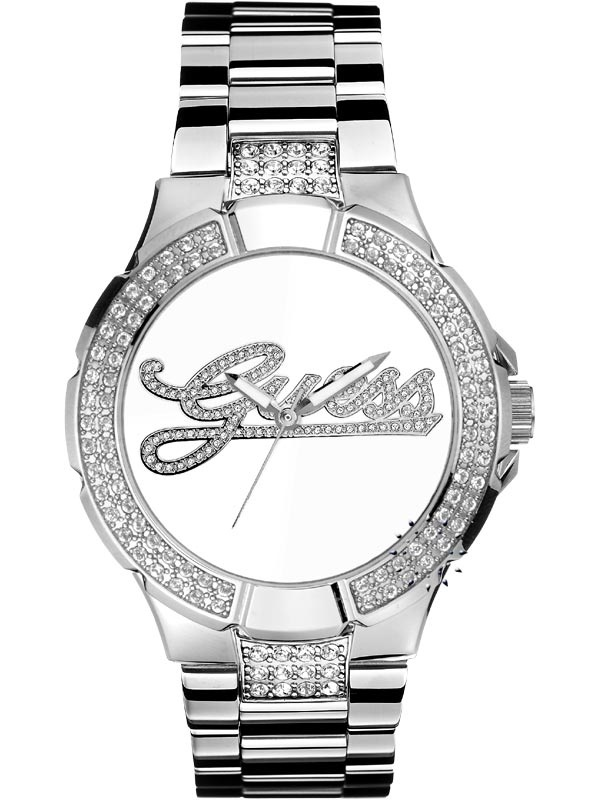 GUESS Crystal Logo Stainless Steel Bracelet  110€  http://www.oroloi.gr/product_info.php?products_id=12196