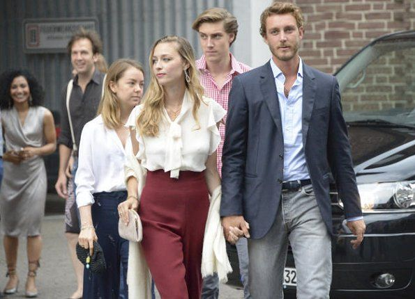 On July 07, 2017, Pierre Casiraghi, Beatrice Borromeo, Princess Alexandra of Hanover and Charlotte Casiraghi attended the pre-wedding dinner for Prince Ernst August and Ekaterina Malysheva at the Brauhaus Restaurant in Hannover. Prince Ernst August of Hanover got married with Russian fashion designer Ekaterina Malysheva with a simple civil ceremony in Hanover City Hall on Thursday. Today (on July 8), the religious wedding ceremony will take place at the Marktkirche church in Hannover.