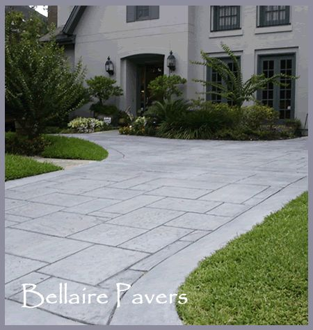 decorative concrete driveways - will it suit the red bricks of our house?...