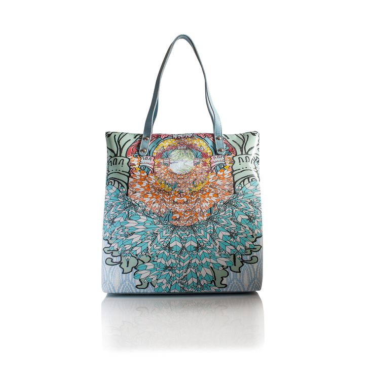 COMING SOON This is our new Spring Summer collection Carnival, Tote Handbag, This bag is inspired by carnival. Bright orange, turquoise blue and if you look closely there is a hidden print amongst all those feathers.  www.lisaryderdesigns.ie