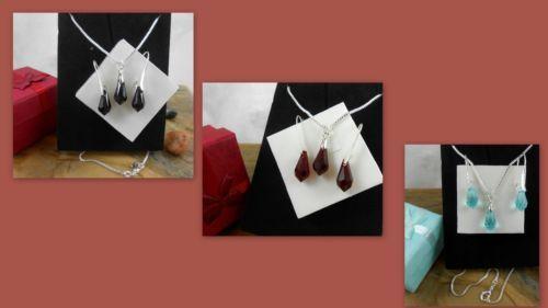 Set-Sterling-Silver-Earrings-pendant-Swarovski-Elements-Crystals-Bridal-gift