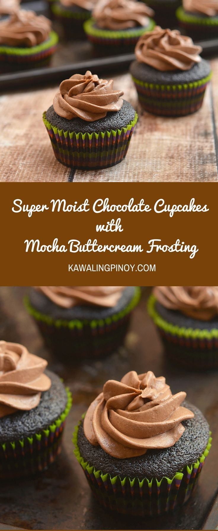Super Moist Chocolate Cupcakes with Mocha Buttercream Frosting are the quickest and easiest cupcakes you can make. Moist, chocolatey and with a delicious mocha buttercream frosting, they're sure to be everyone's favorite!