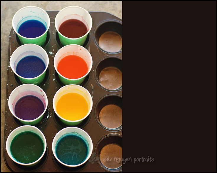 cornstarch painting-cornstarch, water, food coloring. mix in paper cups. Use muffin tin to hold different cups. Hand out paint brushes and let them paint on a large piece of paper. Let them play in water when they finish.