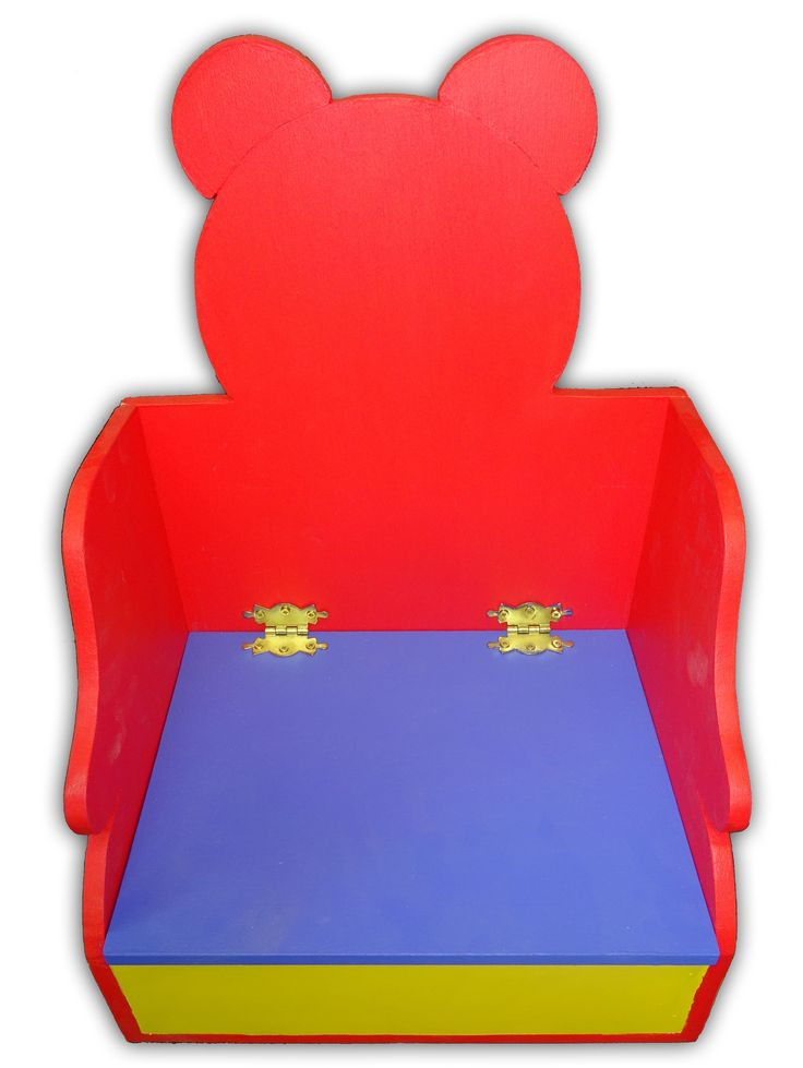 Children's seat with storage. Y10 Resistant Materials.