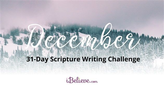 Our daily Scripture writing plan to walk you through the month of December.