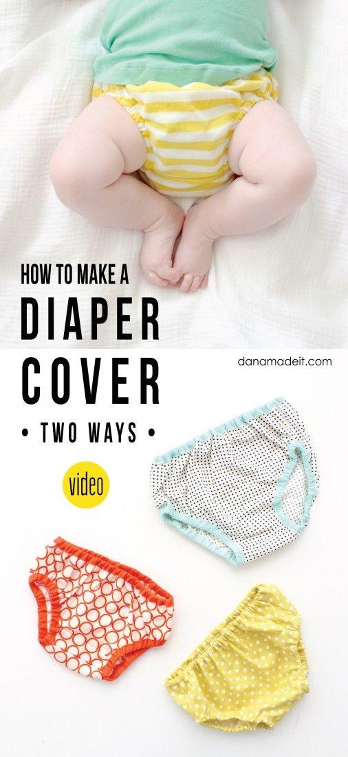 how to sew a diaper cover--video | Como costurar pañales de tela