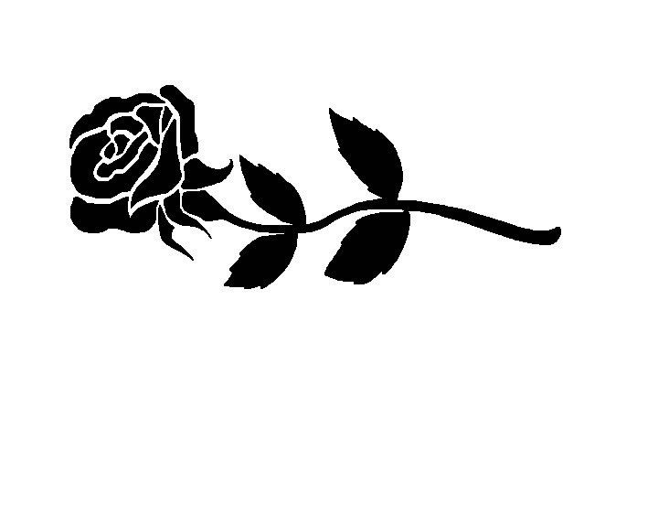 clipart roses black and white - photo #16