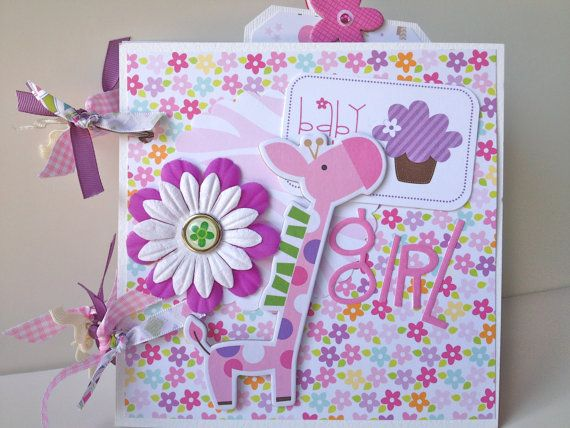 Scrapbook Mini Album Baby Girl Premade. $39.99, via Etsy.