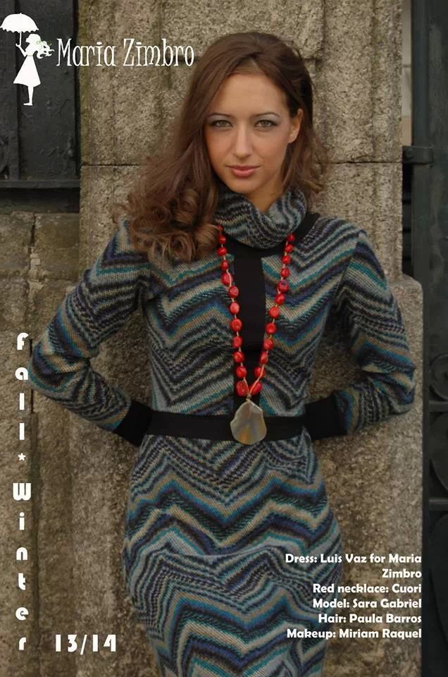 Wool dress, 70`s revival. Elegant, trendy and practical available at Maria Zimbro.