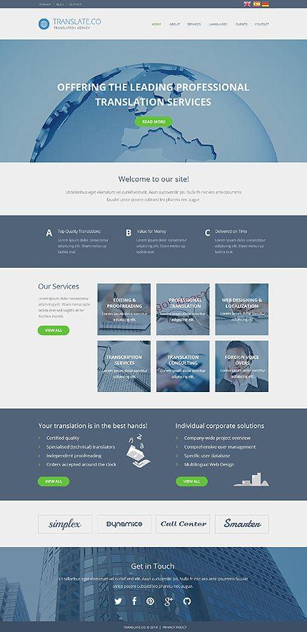 Template 49017 - Translation Company Responsive Website Template