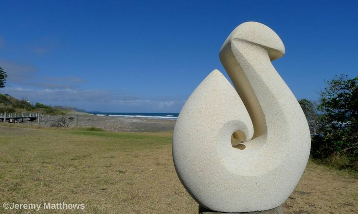 Hook piece - made from Oamaru Stone and represents strength and determination.