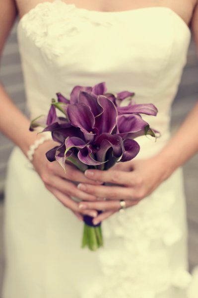 Wedding Flowers - purple calla lily