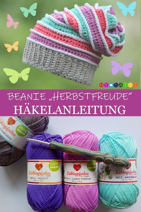 Beanie Herbstfreude Häkeln Mein Häkel Blog By Mybatzi