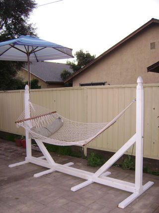 DIY Hammock Stand, have to send this to my dear husband...