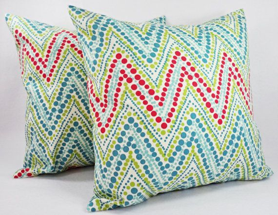 teal chevron pillow covers 2 pillow covers in coral and teal coral throw pillows teal coral pillow cover coral throw pillow
