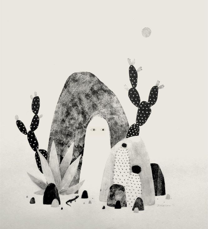 """""""Desert Ghost With Lizard"""" from the upcoming show about ghosts mentioned in the previous post."""