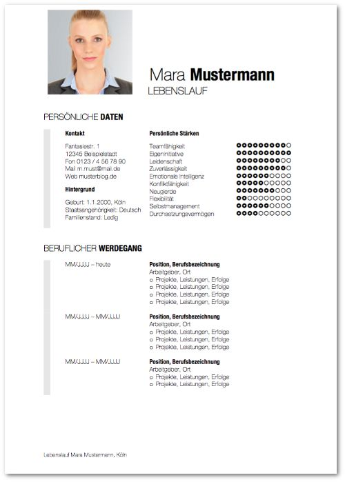 25 best ideas about lebenslauf muster word on pinterest