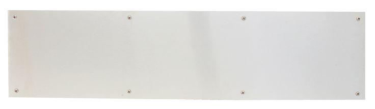 Satin Stainless Steel Kick Plate Style 1