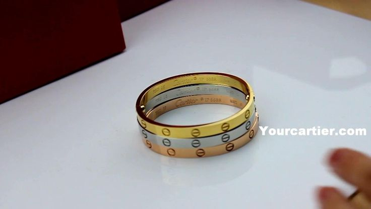 Cartier Love Bracelet Yellow Gold Pink Gold White Gold,3 ...