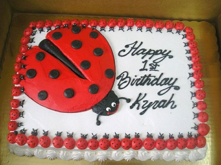 Ladybug drawing on a sheet cake Bella Pinterest ...