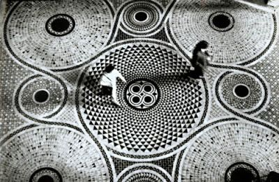 Mosaic Floor of Saint Mark's Cathedrale in Venice, 1965 - Habitually Chic®: Bold in Black and White