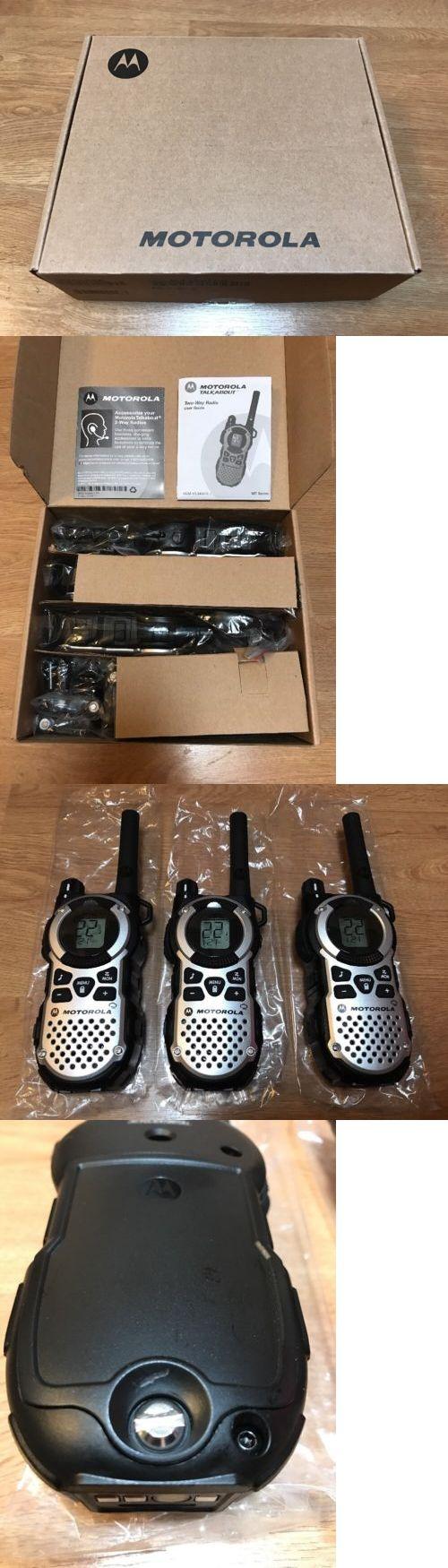 Walkie Talkies Two-Way Radios: Motorola Mt352tpr - 35 Mile Range Talkabout 2-Way Radios, 3-Pack -> BUY IT NOW ONLY: $120 on eBay!