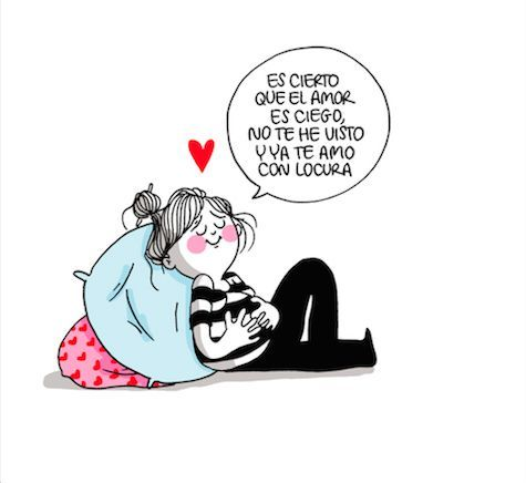 """""""Es cierto que el amor es ciego. No te he visto y ya te amo con locura"""" Te amo infinito mi chiquita  mi bendición de Dios"""