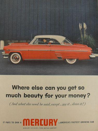 1954 Mercury Car Vintage Automobile Advertisment 1950s Ad