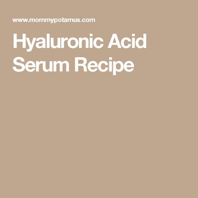 Hyaluronic Acid Serum Recipe
