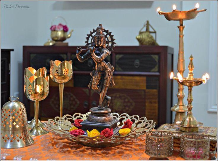 Happy birthday Krishna! #janmashtami #brassdiya #flower #indiandecor #indiainspired#indianfestival #janmashtami