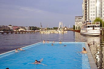 Berlin Summer fun - at Badeschiff
