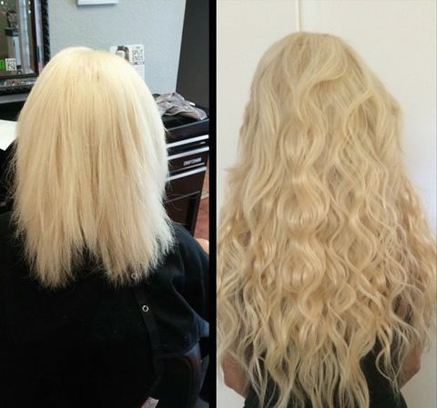 Short to long with tape in hair extensions!