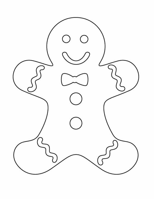 Ginger bread man colouring sheet free printable