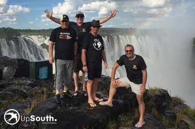 We all made it safely to #victoriafalls #makelifearide #adventuretravel #motorcycletours #bmwmotorrad