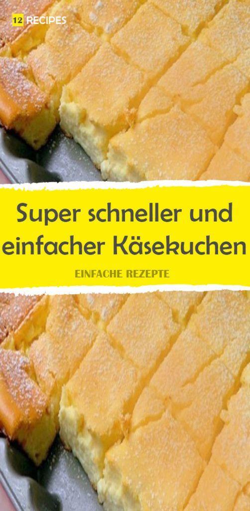 Super schneller und einfacher Käsekuchen 😍 …