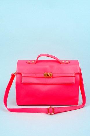 Back to Business Satchel in Hot Pink $51 at www.tobi.com