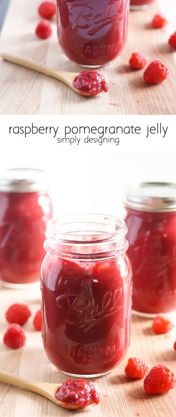 Raspberry Pomegranate Jelly Recipe from Simply Designing - this jam recipe is so easy to make and tastes amazing - pinning for later