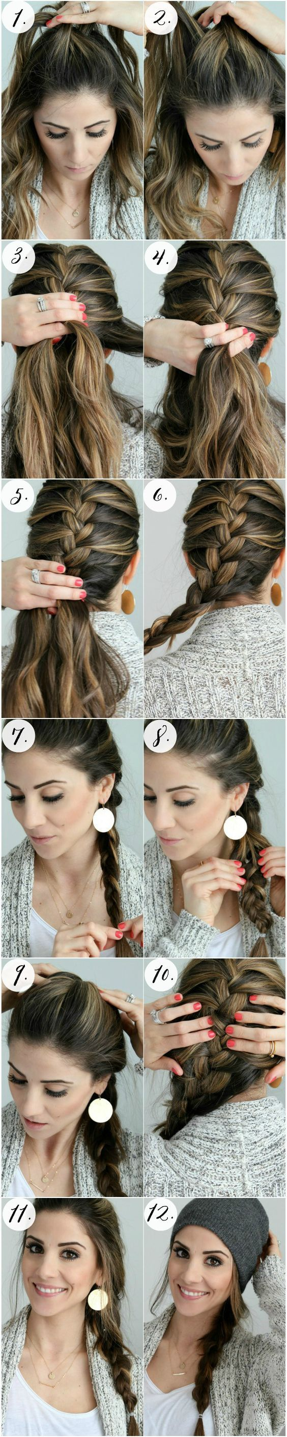 Pretty Braided Crown Hairstyle Tutorials and Ideas / http://www.himisspuff.com/easy-diy-braided-hairstyles-tutorials/48/