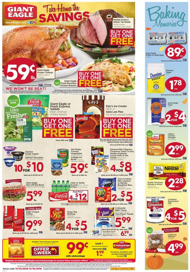 Giant Eagle weekly ad Nov. 10 - Nov. 16 United States grocery circular Thake home the savings!