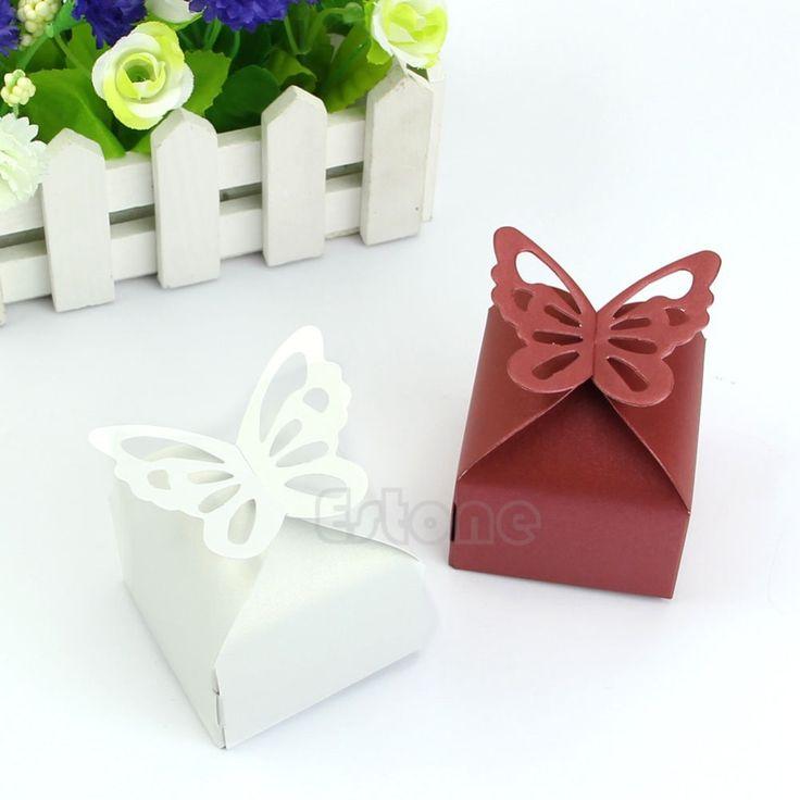 Бесплатная доставка 50 шт. бабочка стиль подарка благосклонности конфеты торт коробки для свадьбы ну вечеринку душа ребенка, принадлежащий категории События и праздничные атрибуты и относящийся к Для дома и сада на сайте AliExpress.com | Alibaba Group